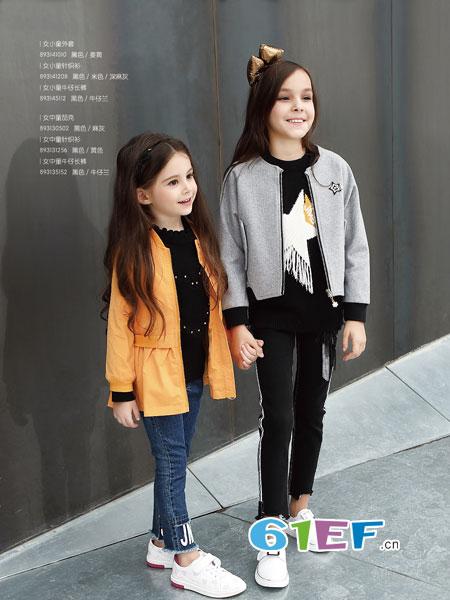 杰米熊童装品牌2018秋冬儿童小童针织衫宝宝毛衣