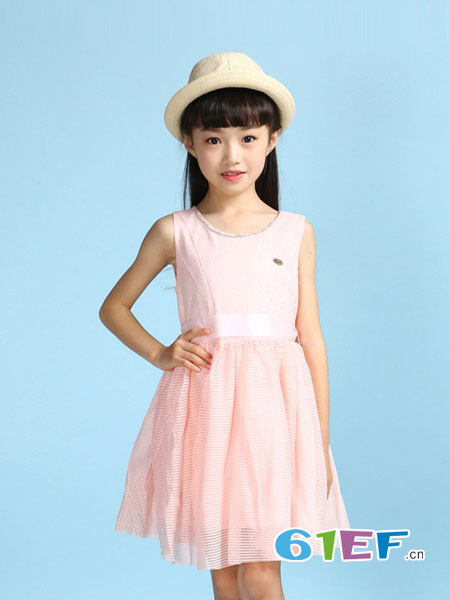 乖乖狗童装品牌2018春夏新款儿童背心裙子韩版网纱裙短裙子