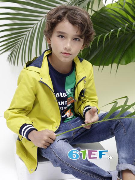 巴柯拉龙8国际娱乐官网品牌2018春夏薄款冲锋衣男孩拉链衫中小童上衣