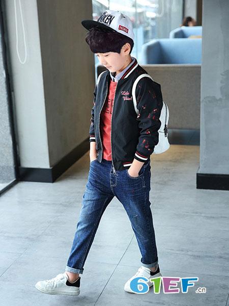 多多家童装品牌男童牛仔长裤儿童春秋休闲裤子男孩薄裤子2018新品潮