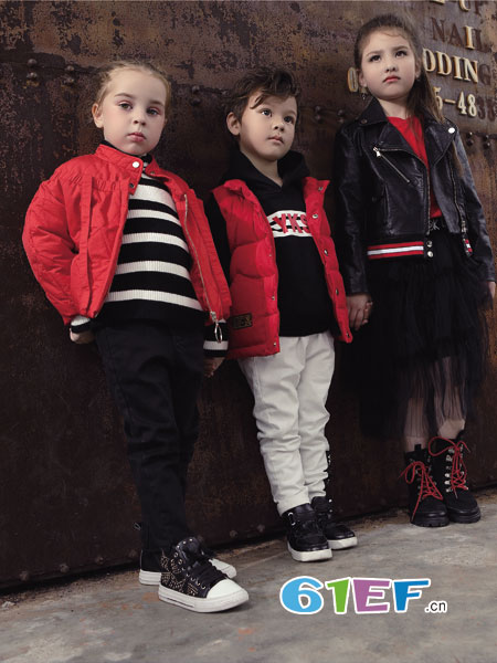 YukiSo童装品牌2018秋冬中大童原单船锚针织混纺毛衣 男童条纹毛衣
