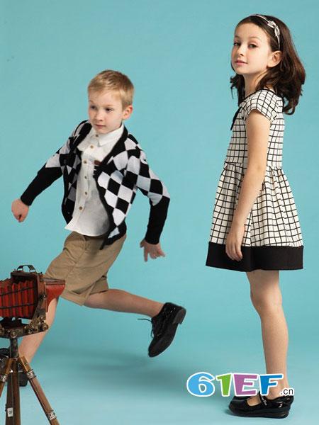 伊顿风尚童装品牌2018春夏儿童开衫男宝宝格子外套