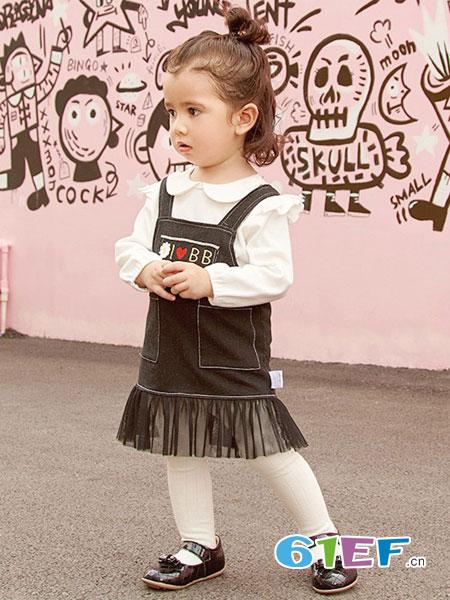 下一代童装品牌2018春夏新款灯芯绒时尚百搭气质背带裙韩版女童复古潮
