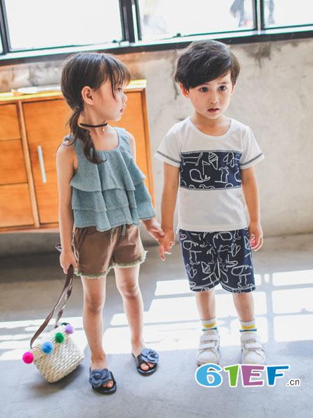 兔子杰罗童装品牌2018春夏新款韩版中大童潮范纯棉短袖儿童