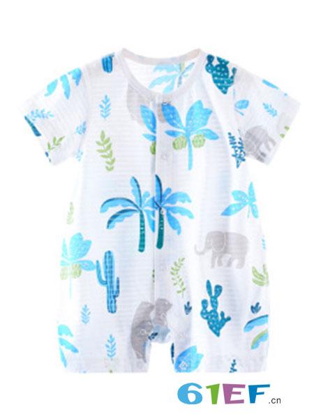 巧尼熊童装品牌2018春夏短袖男女纯棉时尚体恤打底衫洋气半袖上衣婴儿t恤