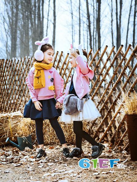 水孩儿souhait童装品牌2018秋冬重工立体刺绣萌趣水果 针织 长袖 毛衣