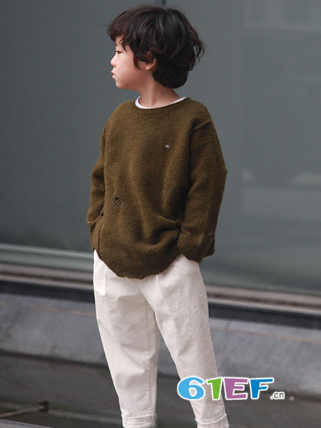 edo KIDS童装品牌2018秋冬宽松毛衣
