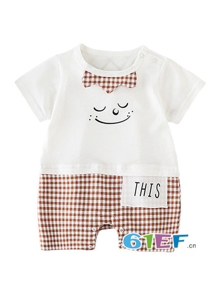 modomoma童装品牌2017夏季新生儿衣连体衣纯棉