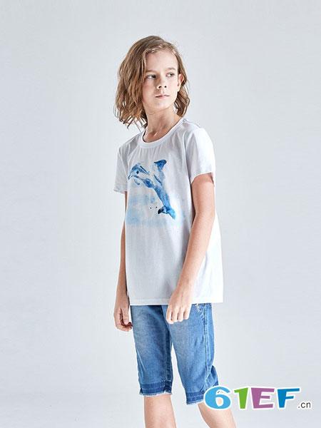 Carpotree卡波树童装品牌2018春夏新款男童短袖T恤儿童纯棉透气运动上衣中大童装潮