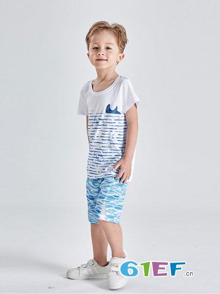 Carpotree卡波树童装品牌2018春夏新款纯棉半袖t恤衫棉麻沙滩潮童