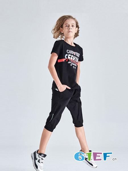 Carpotree卡波树童装品牌2018春夏男大童短袖T恤运动休闲