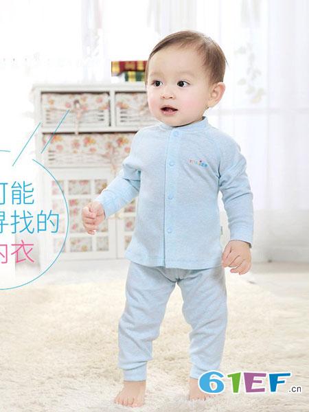 优奇童装品牌2018秋冬纯棉宝宝新生婴儿保暖内衣加厚套装全棉