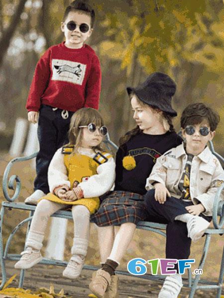 兔子杰罗童装品牌2018秋冬新款圆领儿童毛衣男童针织衫中大童潮