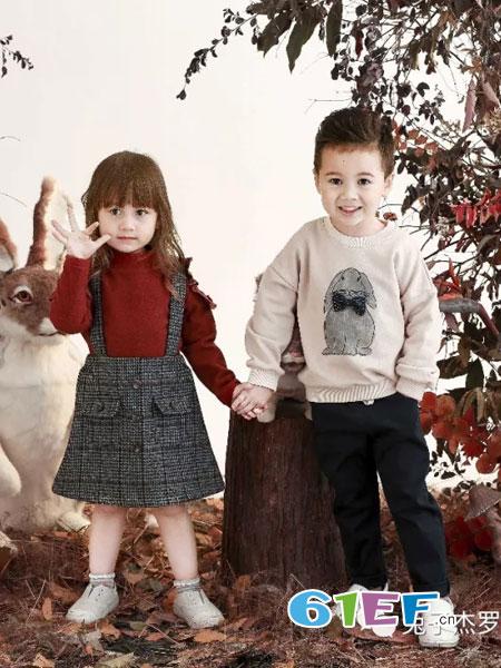 兔子杰罗童装品牌2018秋冬新款儿童男女童休闲舒适圆领套头卫衣