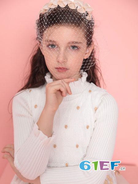 铅笔俱乐部童装品牌2018秋冬百搭短款打底衫无袖毛衣