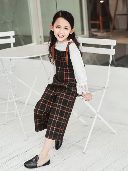 酷比小捍马童装品牌2018秋冬新款小清新儿童格子裙