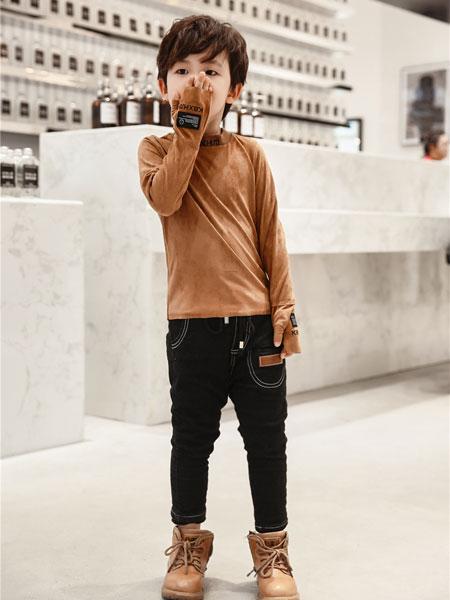 酷比小捍马童装品牌2018秋冬毛衣针织衫棉质高领套头薄款打底衫