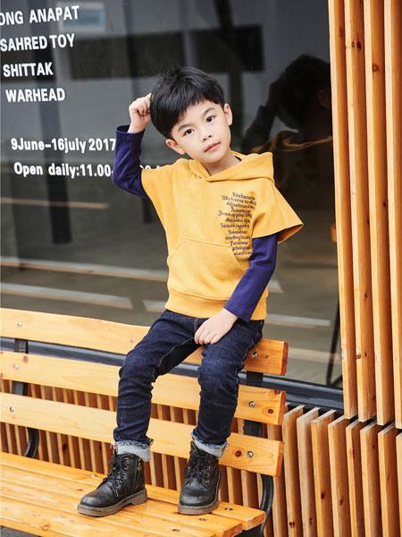 酷比小捍马童装品牌2018秋冬新款百搭黄色星星针织毛衣套衫