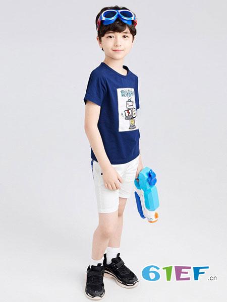 gxg.kids童装品牌新款男童卡通短袖T恤