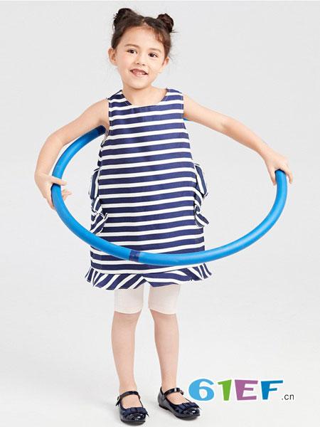 gxg.kids童装品牌新款女童条纹连衣裙儿童夏装