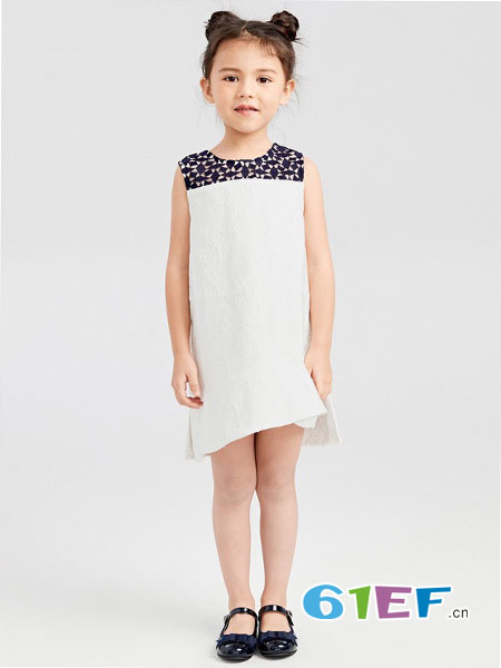 gxg.kids童装品牌2018春夏新款女童裙子儿童夏装无袖连衣裙