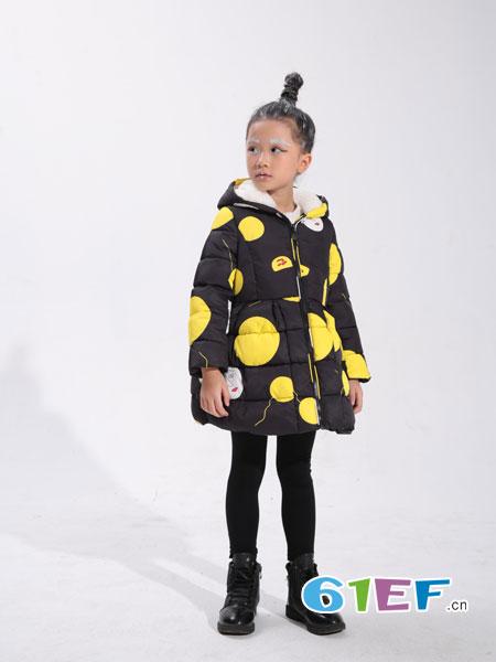 小猪芭那童装品牌2018秋冬棉衣女童加厚棉袄外套棉服