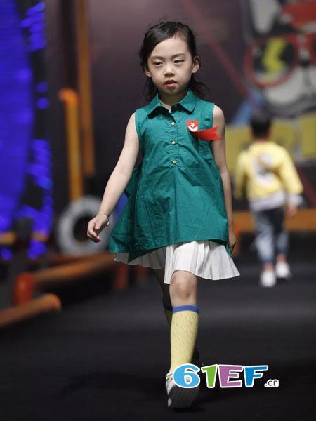 FRIVEN童装品牌2018秋冬新款韩版儿童裙子中大童洋气棉麻背心裙公主裙