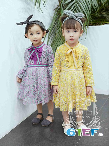 维尼叮当童装品牌2018秋新款韩版时尚婴幼儿长袖小女孩公主洋气