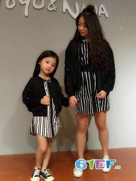 呗呗熊童装品牌2018秋冬母女装连衣裙