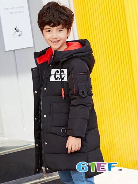呗呗熊童装品牌2018秋冬长款棉袄