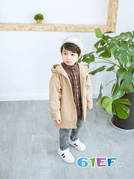安米莉AMILRIS童装品牌2018秋冬风衣纯棉休闲夹克衫汽车韩版