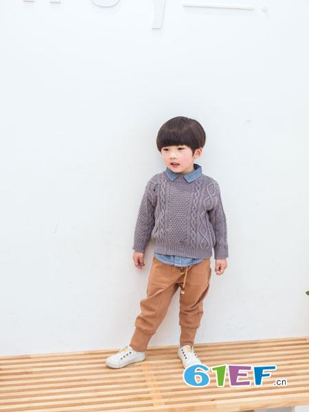 安米莉AMILRIS童装品牌2018秋冬新款打底衫宝宝套头衫高端儿童毛衣
