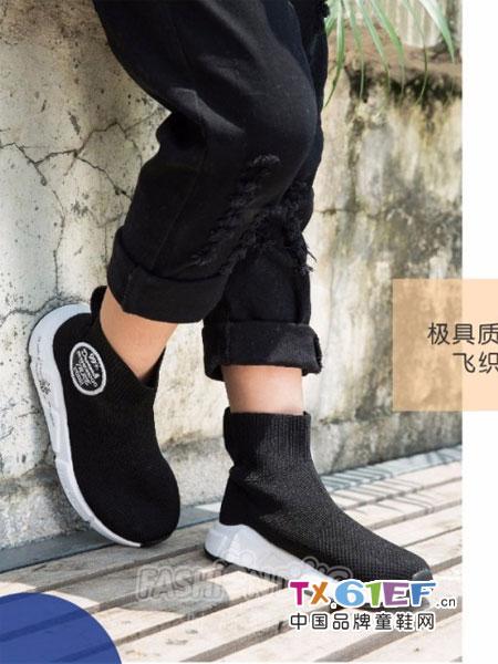 时尚狗狗.哈贝多童鞋品牌2018秋新款加绒中童鞋