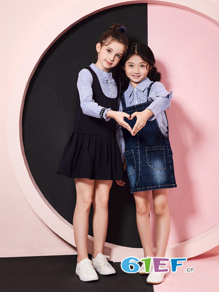 嗒嘀嗒童装品牌2018秋冬时尚背带裙
