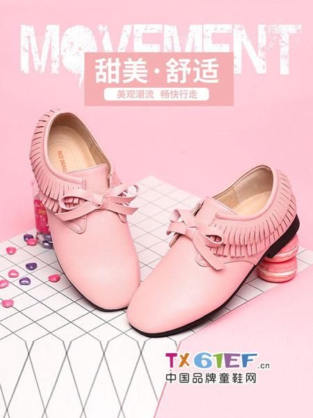 红蜻蜓KIDS童鞋品牌2018秋冬新款女童皮鞋软底公主鞋学生休闲鞋儿童单鞋