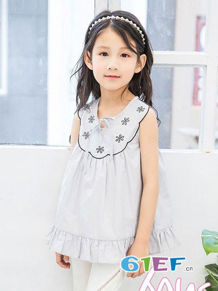 贝蕾地童装品牌2018春夏背心连衣裙