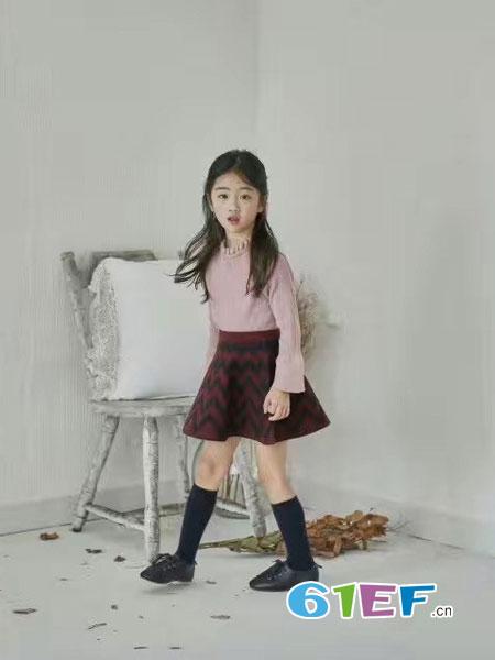 小嗨皮童装品牌2018秋冬韩版宽松针织阔腿裤九分裤