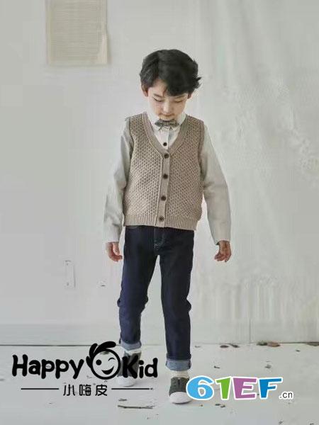 小嗨皮童装品牌2018秋冬男童宝宝帅气时尚衬衫T恤