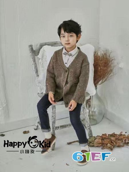小嗨皮童装品牌2018秋冬毛衣外套男童针织衫夹克开衫