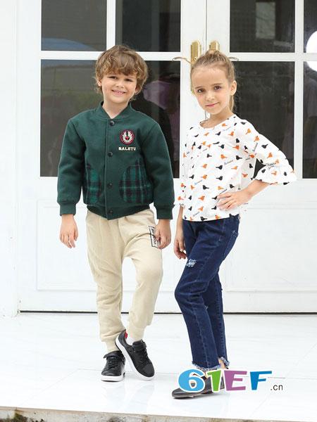 芭乐兔童装品牌2018秋冬新款上衣儿童毛衣开衫针织衫