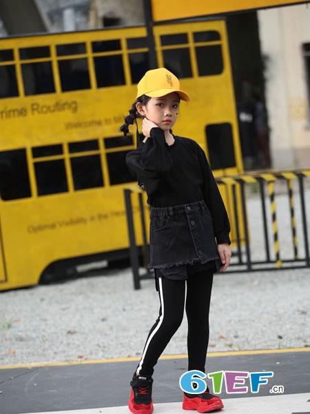 下一个奇迹童装品牌2018秋冬新款女童开衫针织衫百搭宝宝毛线上衣潮