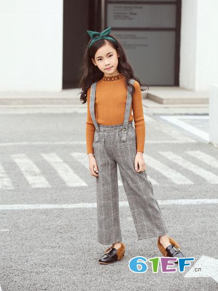 可趣可奇童装品牌2018秋冬韩版童装儿童背带裤阔腿裤