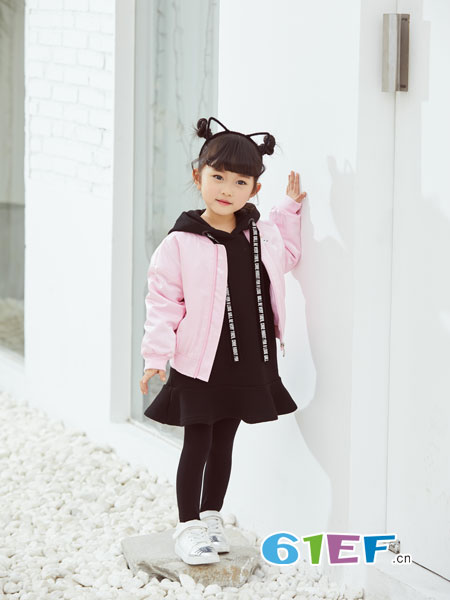 可趣可奇童装品牌2018秋冬毛呢长袖休闲外套