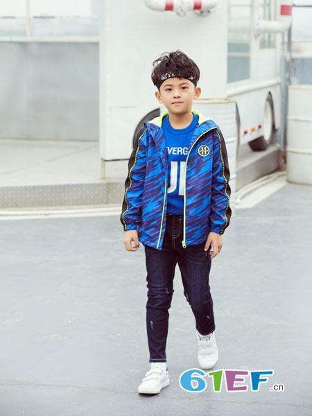 可趣可奇童装品牌2018秋冬纯棉运动休闲外套