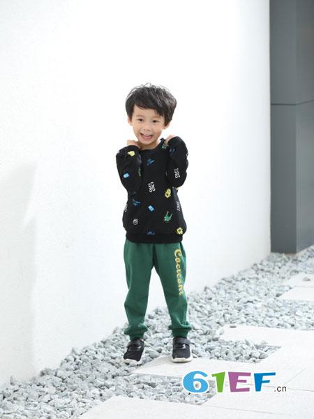 可趣可奇童装品牌2018秋冬潮童长袖卫衣