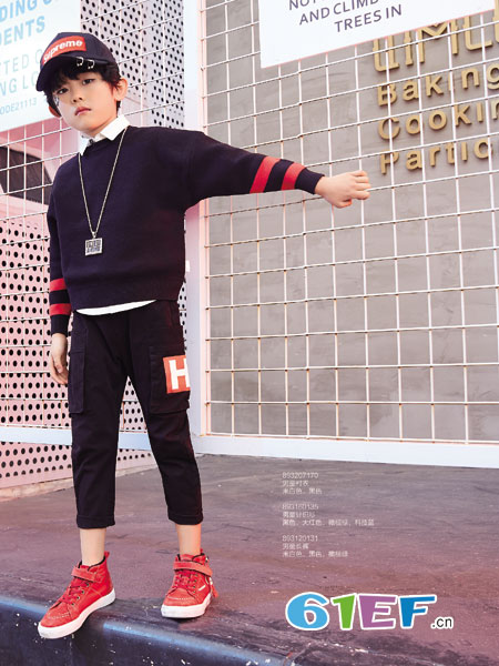 卡儿菲特童装品牌2018秋冬新款儿童假两件卫衣中大童长袖T恤纯棉 韩版