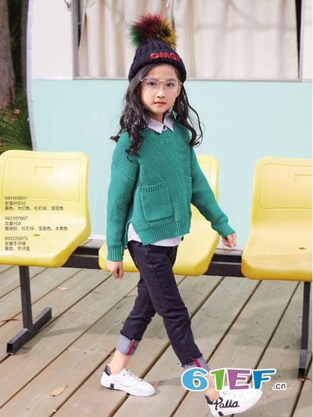 卡儿菲特童装品牌2018秋冬儿童女童套头毛衣小女孩韩版上衣潮