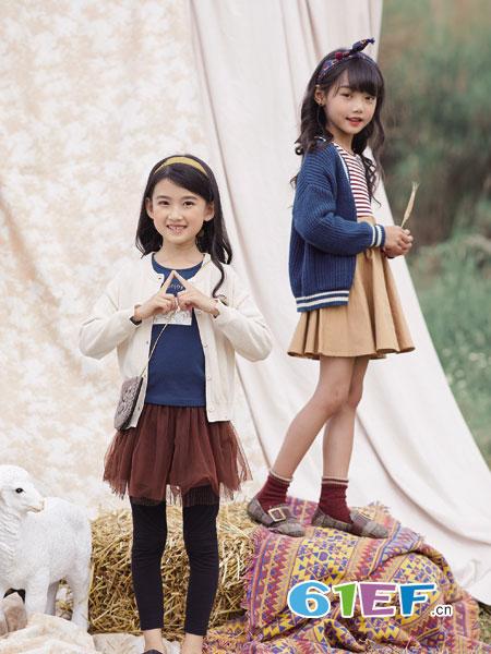 德蒙斯特童装品牌2018秋冬纯棉长袖羊绒衫