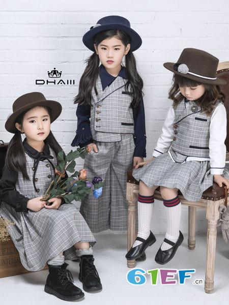 东宫皇子童装品牌2018秋冬格子连衣裙