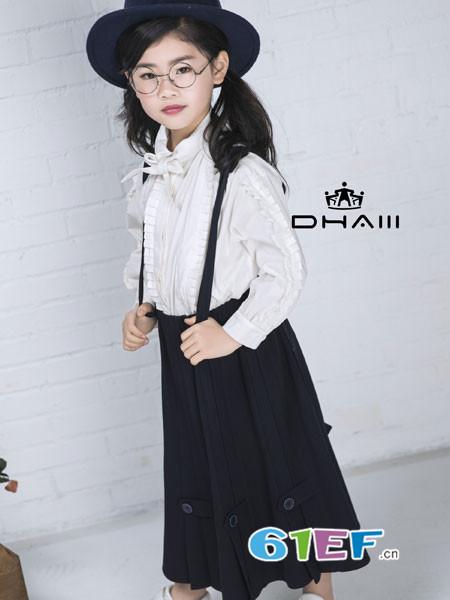 东宫皇子童装品牌2018秋冬背带裙